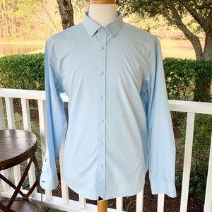 UNTUCKit Light Blue Wrinkle Free Dress Shirt. XL
